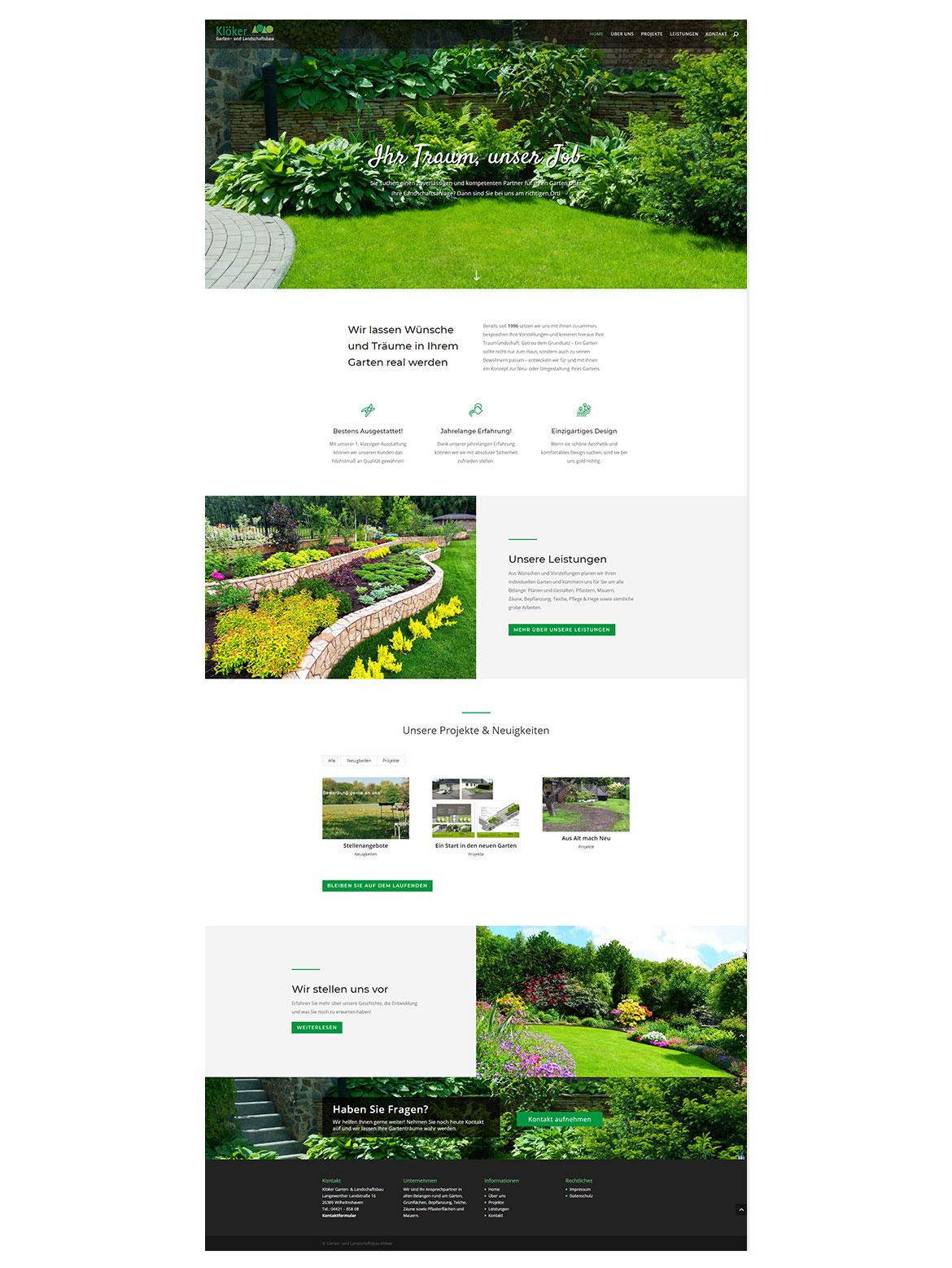 Klöker - Garten- und Landschaftsbau
